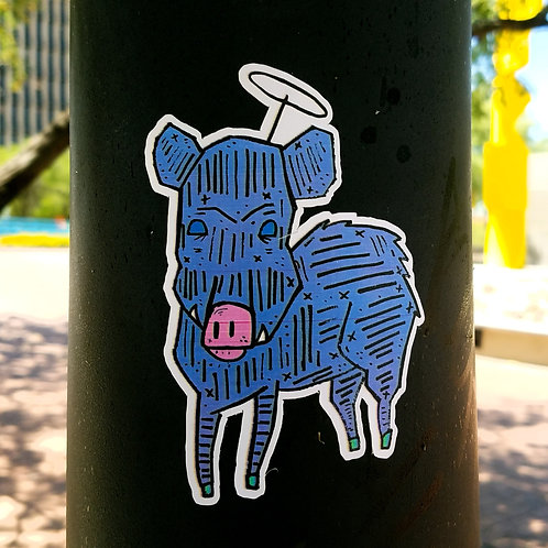 Heavenly Javelina Sticker