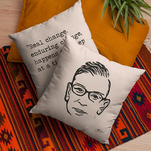 RBG Art Quote Pillow