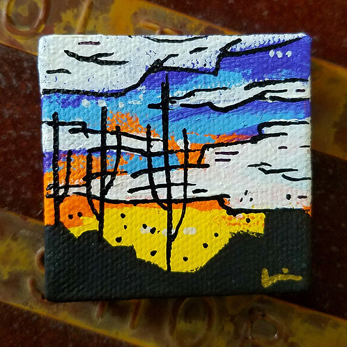 Chris Mitchell Hand-Painted Magnet