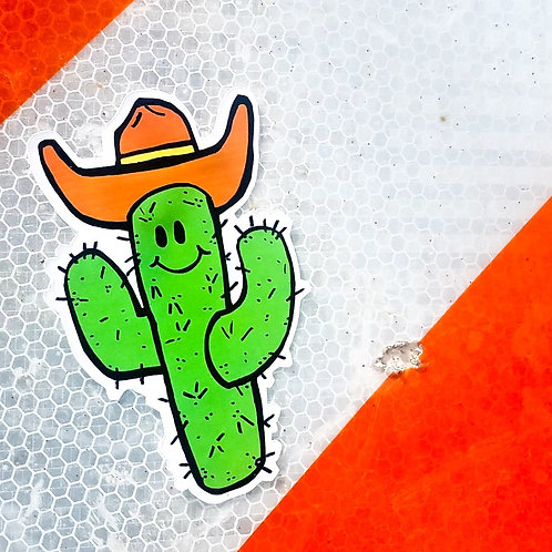 Saguaro Spike the Cactus Cowboy Sticker