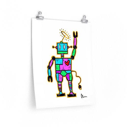 Robot Love Poster Print