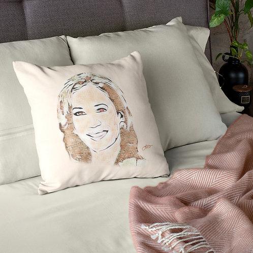 Kamala Harris Art Quote Pillow