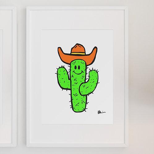 Saguaro Spike the Cactus Cowboy Print