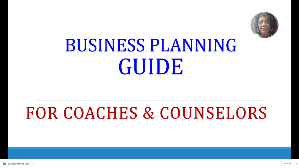 Business Planning for Coaches & Counselors