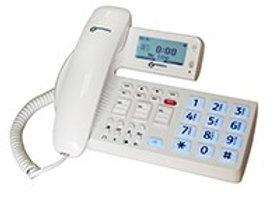 Téléphone amplifié avec synthèse vocale et touche d'appel d'urgence
