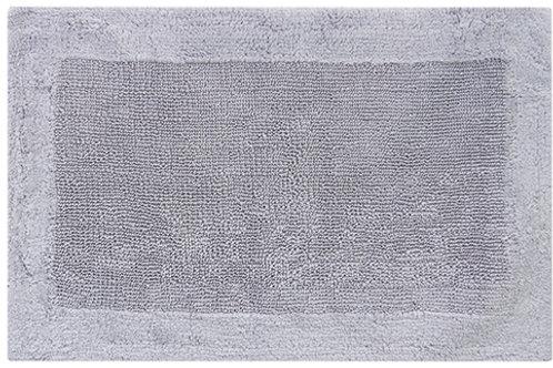 Egyptian Cotton Outside Border Bath Rug - Gray