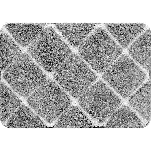 Trellis Foam Bath Mat - Gray