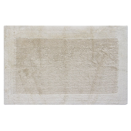 Egyptian Cotton Outside Border Bath Rug - Natural