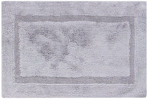 Egyptian Cotton Inset Border Bath Rug - Gray