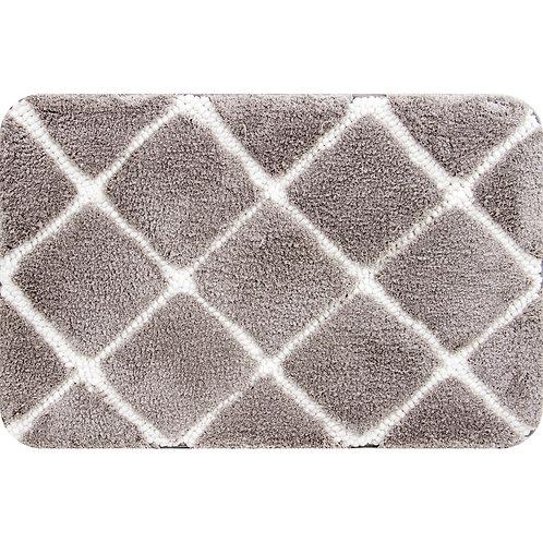Trellis Foam Bath Mat -Taupe