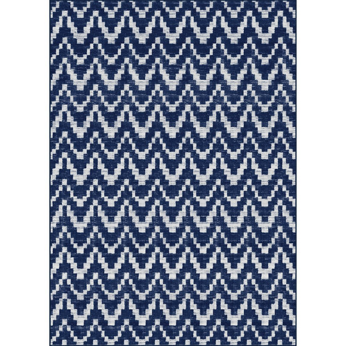 Chelsea Chevron Navy Area Rug