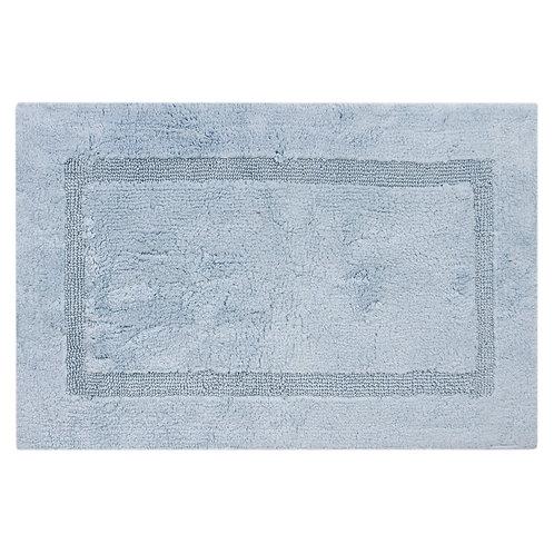 Egyptian Cotton Inset Border Bath Rug - Aqua