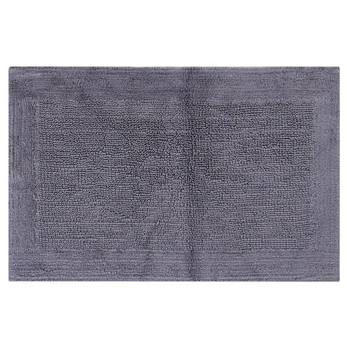 Egyptian Cotton Outside Border Bath Rug -Charcoal
