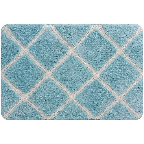 Trellis Foam Bath Mat -Aqua