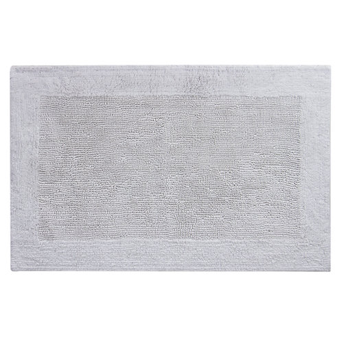 Egyptian Cotton Outside Border Bath Rug -White