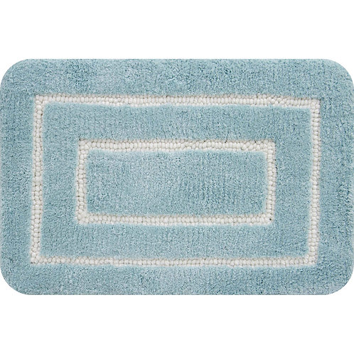 Borders Foam Bath Mat- Aqua