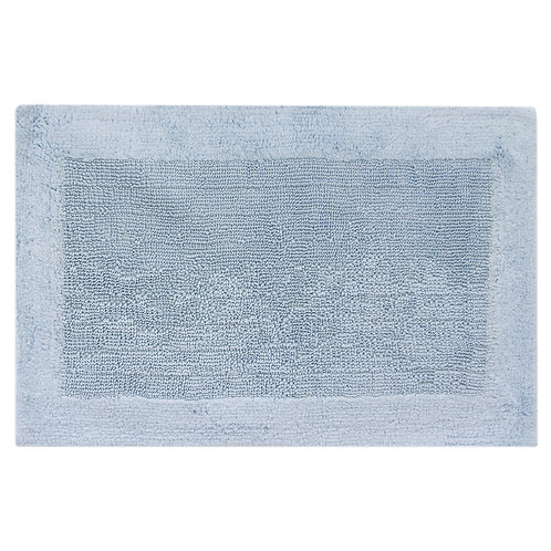 Egyptian Cotton Outside Border Bath Rug - Aqua