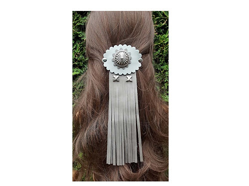Leather hair jewellery