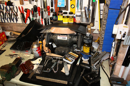 Leathercrafters work bench area
