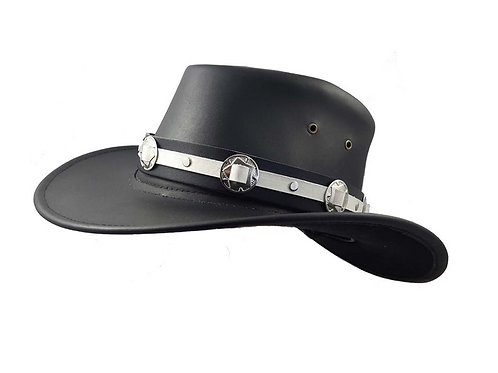 Black and White gambler hat band