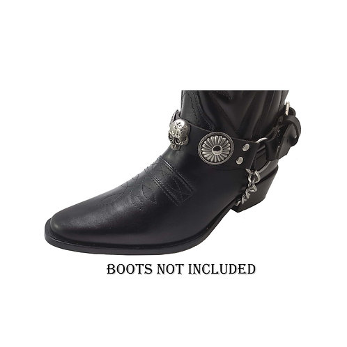 Skull boot straps