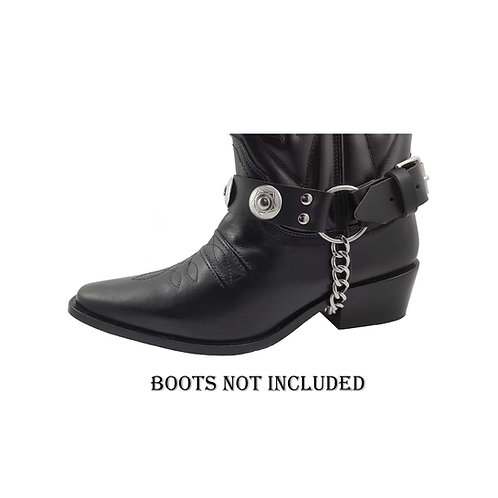 Concho boot straps