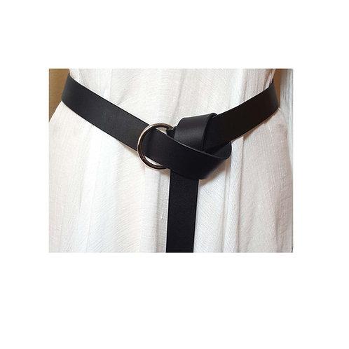 Black Leather Medieval Belt