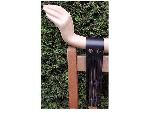 Leather fringe cuff