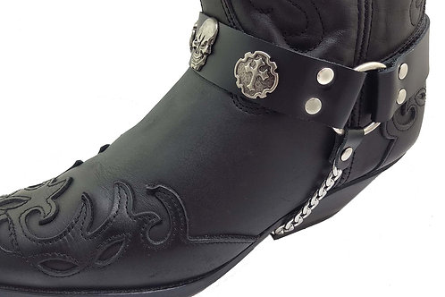Skull and cross concho boot chains