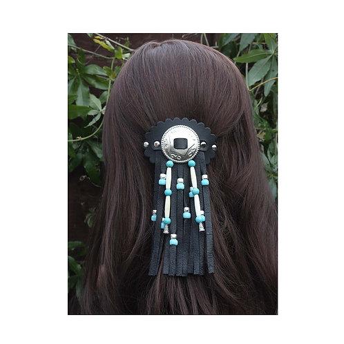 Leather Hair barrette