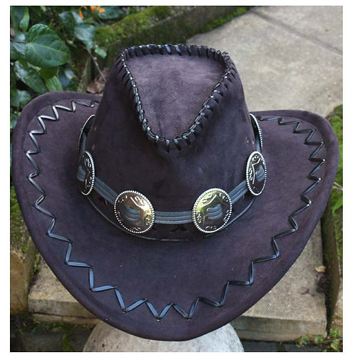 GREY LEATHER HAT BAND
