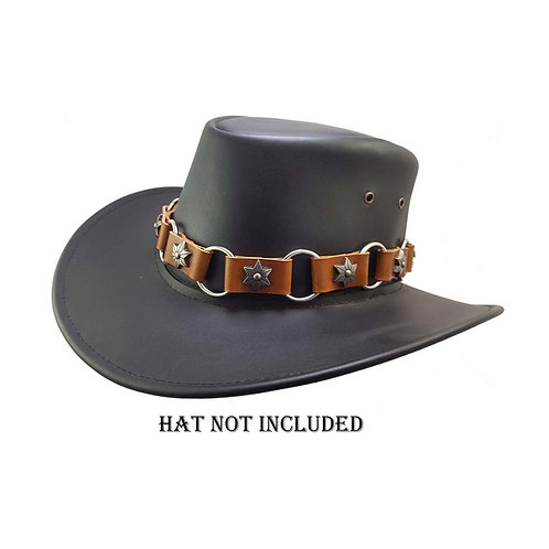 Handmade leather hat band