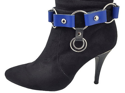 Royal blue leather boot bracelets