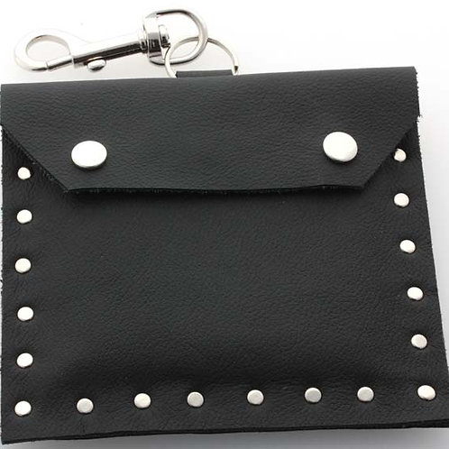 Leather guitar string pouch