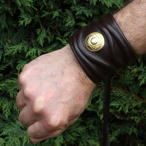 Layered brown leather bracelet