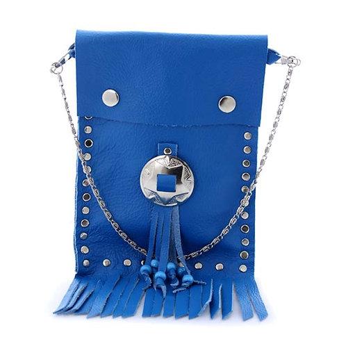 Royal blue belt pouch