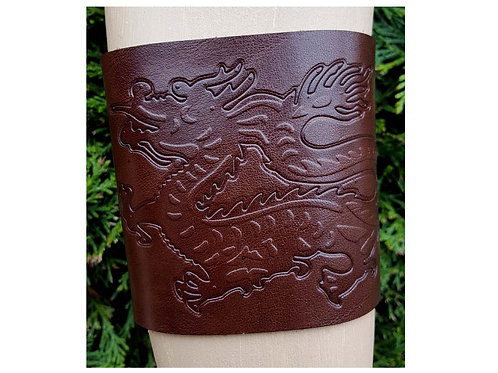 Leather upper arm cuff