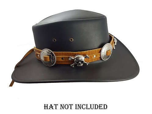Brown leather hat band