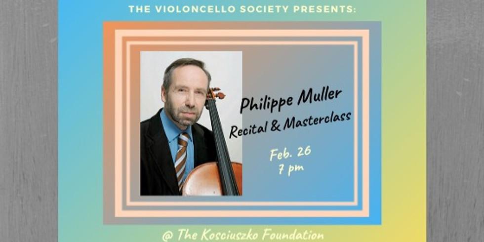 Philippe Muller Recital & Masterclass