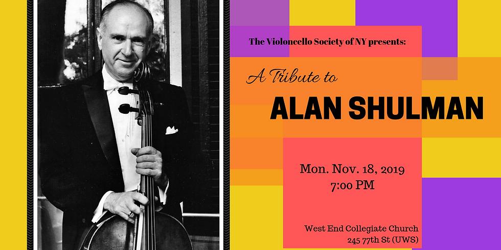 A Tribute to Alan Shulman