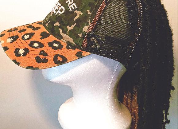 Leopard and Camo Dreadlock Cap