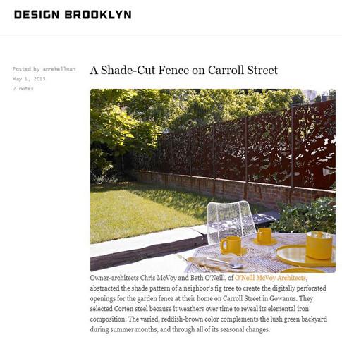 A Shade-Cut Fence on Carroll Street