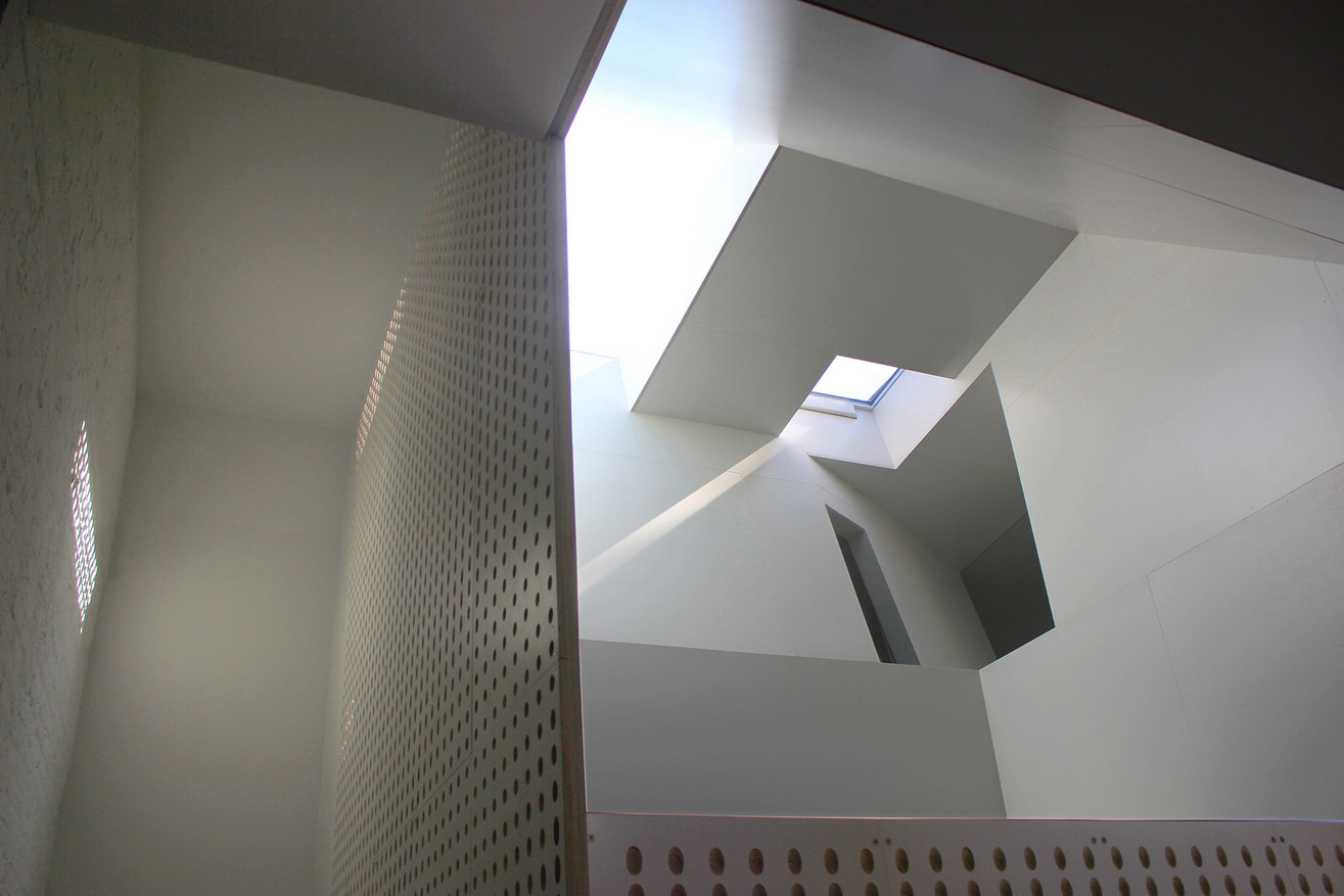 Atrium and skylights from the library