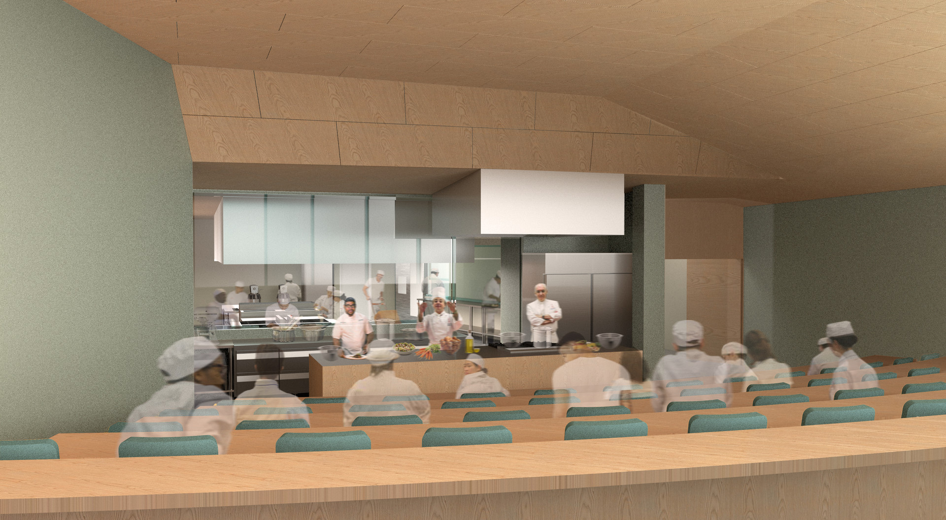 Theater for cooking demonstrations