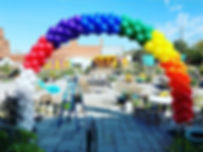 Made a huge 30' arch for _highpointpride
