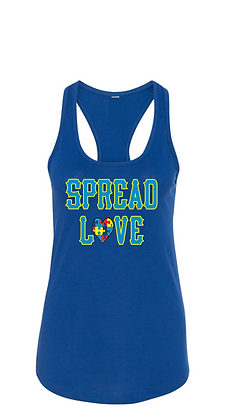 Spread Love Autism Racer back