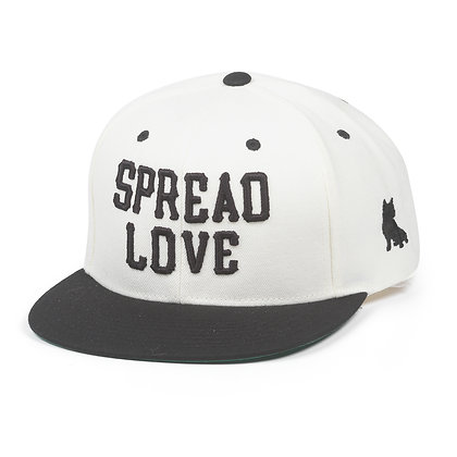 Natural And Black Spread Love Snapback