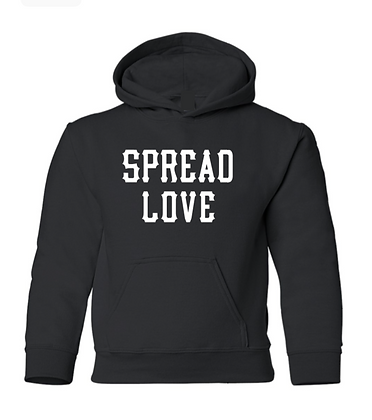Youth Spread Love Hoodie Black & White