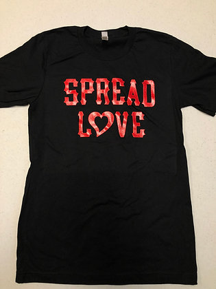 Black Spread Love Red Glam Tee
