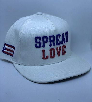 Spread Love White Puerto Rico Snapback